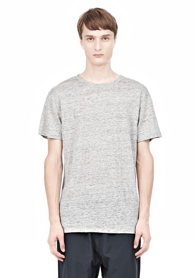 T by ALEXANDER WANG HEATHER LINEN SHORT SLEEVE TEE TOP Adult 12_n_e