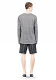 T by ALEXANDER WANG HEATHER LINEN LONG SLEEVETEE Crewneck Adult 8_n_r