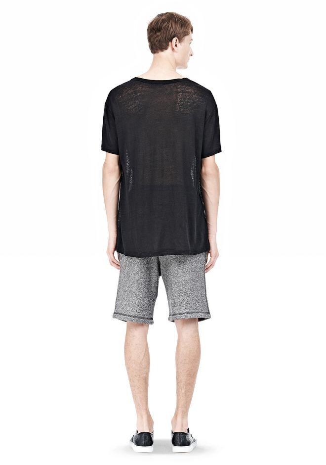 T by ALEXANDER WANG LINEN SILK SHORT SLEEVE TEE Short sleeve t-shirt Adult 12_n_r