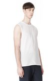 T by ALEXANDER WANG PIGMENT DYED COTTON JERSEY SILK NECK TRIM MUSCLE T TOP Adult 8_n_a
