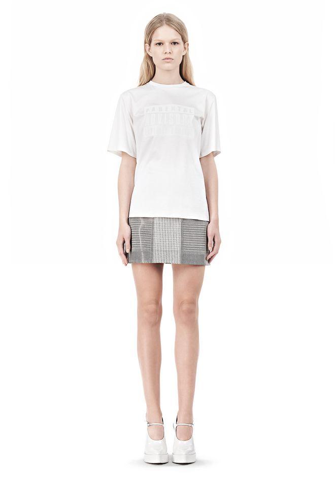 ALEXANDER WANG PARENTAL ADVISORY CREWNECK T-SHIRT Short sleeve t-shirt Adult 12_n_f
