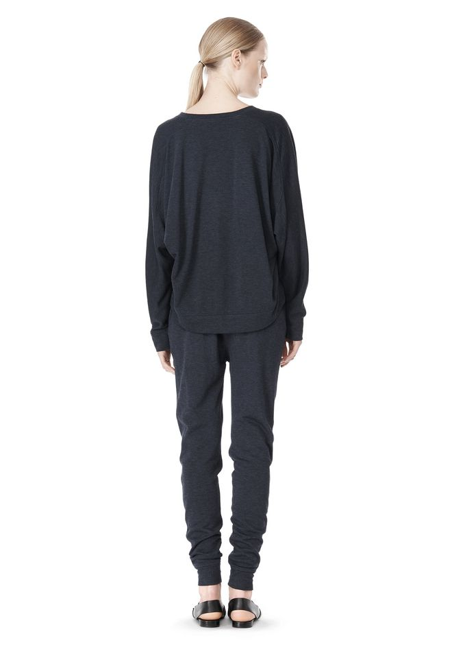 T by ALEXANDER WANG LIGHTWEIGHT FRENCH TERRY SWEATSHIRT TOP Adult 12_n_r