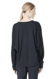 T by ALEXANDER WANG LIGHTWEIGHT FRENCH TERRY SWEATSHIRT TOP Adult 8_n_d