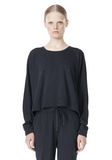 T by ALEXANDER WANG LIGHTWEIGHT FRENCH TERRY SWEATSHIRT TOP Adult 8_n_e