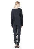 T by ALEXANDER WANG LIGHTWEIGHT FRENCH TERRY SWEATSHIRT TOP Adult 8_n_r