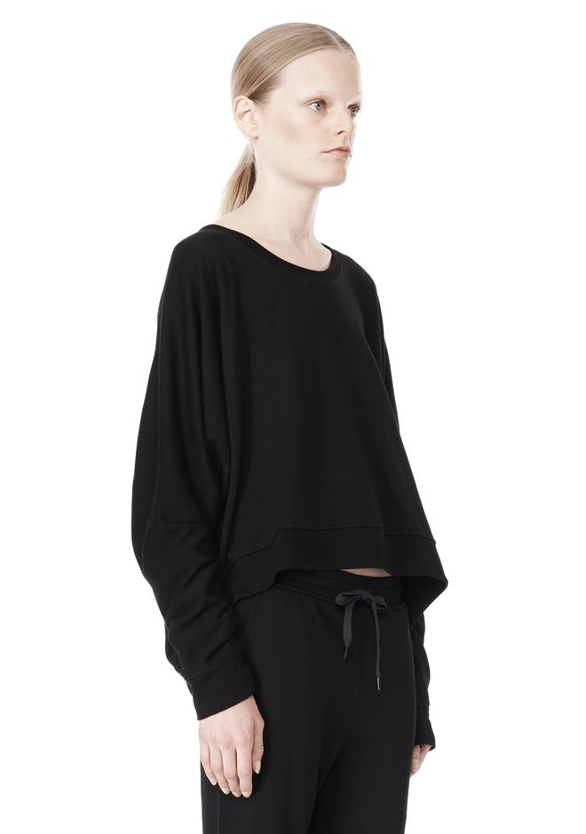 T by ALEXANDER WANG LIGHTWEIGHT FRENCH TERRY SWEATSHIRT TOP Adult 12_n_a
