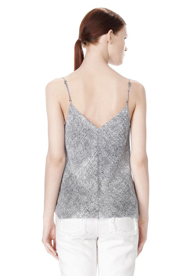 T by ALEXANDER WANG GEORGETTE CAMISOLE TOP TOP Adult 12_n_d