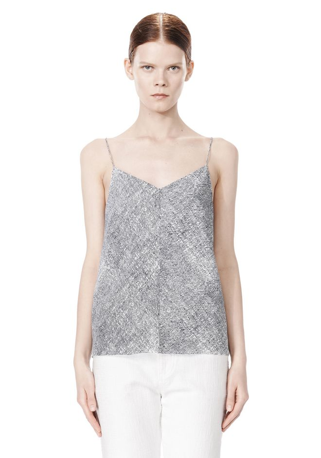 T by ALEXANDER WANG GEORGETTE CAMISOLE TOP TOP Adult 12_n_e