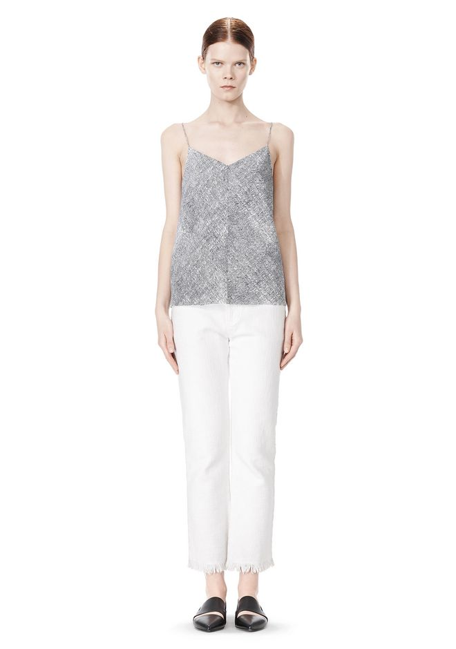 T by ALEXANDER WANG GEORGETTE CAMISOLE TOP TOP Adult 12_n_f