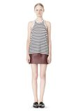 T by ALEXANDER WANG STRIPE LINEN COTTON TANK TOP Adult 8_n_f