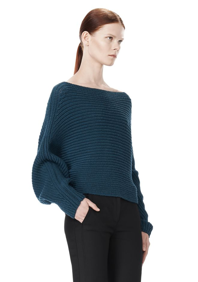 ALEXANDER WANG CROPPED RIB PULLOVER  TOP Adult 12_n_a