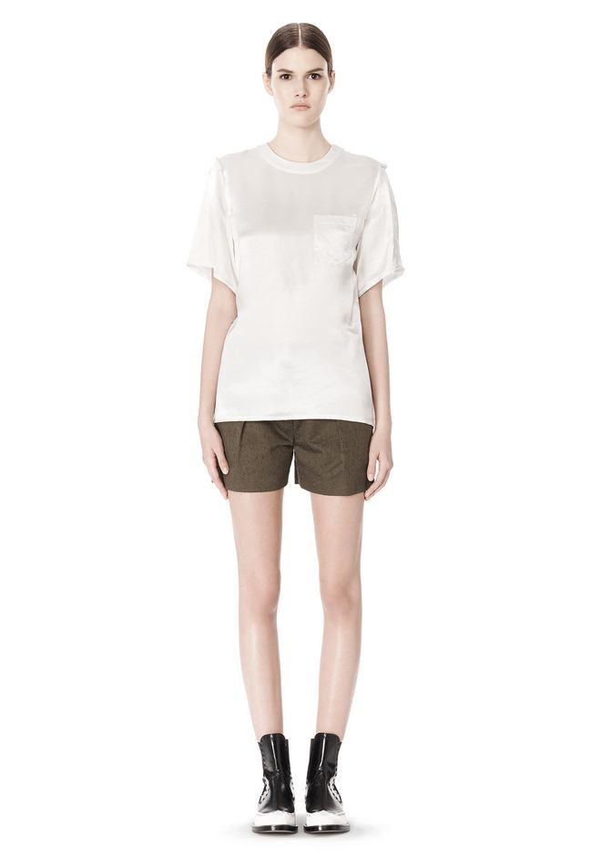 ALEXANDER WANG T-SHIRT WITH EXPOSED DISTRESSED BACK TOP Adult 12_n_f
