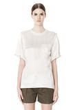 ALEXANDER WANG T-SHIRT WITH EXPOSED DISTRESSED BACK TOP Adult 8_n_d