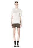 ALEXANDER WANG T-SHIRT WITH EXPOSED DISTRESSED BACK TOP Adult 8_n_f