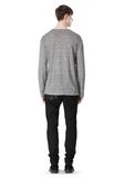 T by ALEXANDER WANG HEATHER LINEN CREWNECK LONG SLEEVE TEE TOP Adult 8_n_r