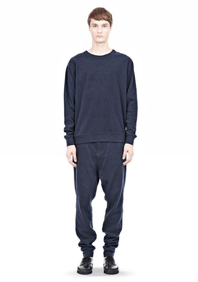 T by ALEXANDER WANG PIQUE DOUBLE KNIT SWEATSHIRT TOP Adult 12_n_f