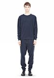 T by ALEXANDER WANG PIQUE DOUBLE KNIT SWEATSHIRT TOP Adult 8_n_f