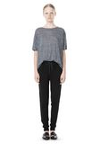 T by ALEXANDER WANG HEATHER LINEN OVERSIZED TEE TOP Adult 8_n_f