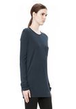 T by ALEXANDER WANG CLASSIC LONG SLEEVE TEE WITH POCKET TOP Adult 8_n_a