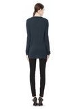 T by ALEXANDER WANG CLASSIC LONG SLEEVE TEE WITH POCKET TOP Adult 8_n_r
