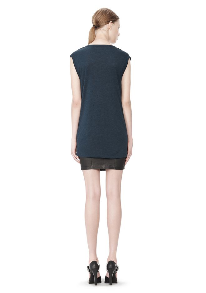 T by ALEXANDER WANG CLASSIC MUSCLE TEE WITH POCKET TOP Adult 12_n_r