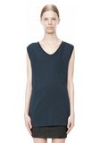 T by ALEXANDER WANG CLASSIC MUSCLE TEE WITH POCKET TOP Adult 8_n_e
