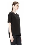 T by ALEXANDER WANG WASHED SILK CHARMEUSE SHORT SLEEVE TEE TOP Adult 8_n_a