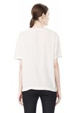 T by ALEXANDER WANG WASHED SILK CHARMEUSE SHORT SLEEVE TEE TOP Adult 8_n_d
