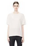T by ALEXANDER WANG WASHED SILK CHARMEUSE SHORT SLEEVE TEE TOP Adult 8_n_e