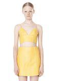T by ALEXANDER WANG RAW EDGE TRIANGLE LEATHER BRALETTE Swimwear Adult 8_n_e