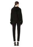 T by ALEXANDER WANG SCUBA DOUBLE KNIT HOODIE W ITH LEATHER TRIM TOP Adult 8_n_r