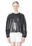 T by ALEXANDER WANG LAMINATED COTTON TERRY SWEATSHIRT TOP Adult 8_n_e