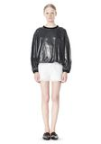 T by ALEXANDER WANG LAMINATED COTTON TERRY SWEATSHIRT TOP Adult 8_n_f
