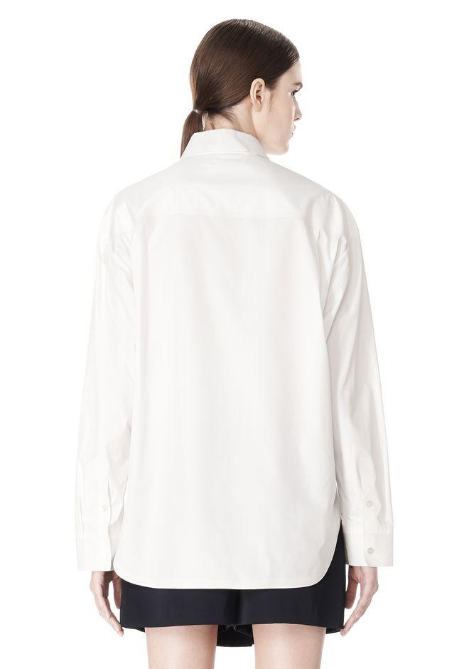 ALEXANDER WANG OVERSIZED DRESS SHIRT TOP  12_n_d
