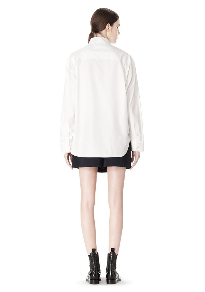 ALEXANDER WANG OVERSIZED DRESS SHIRT TOP  12_n_r