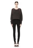 T by ALEXANDER WANG MERINO BLEND PULLOVER WITH RIB DETAIL TOP Adult 8_n_f