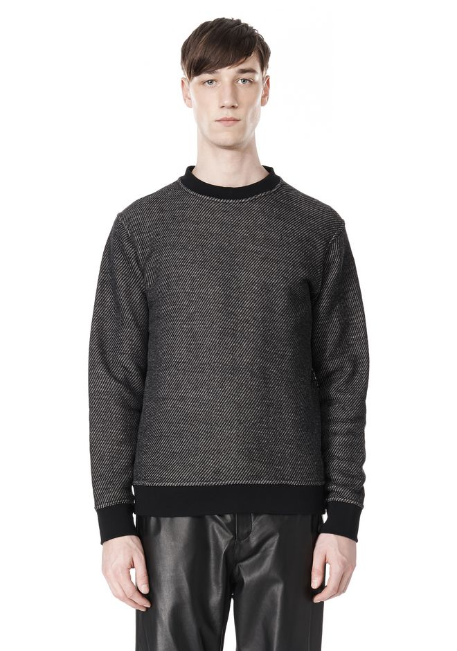 T by ALEXANDER WANG COTTON TWILL KNIT FRENCH TERRY SWEATSHIRT TOP Adult 12_n_e