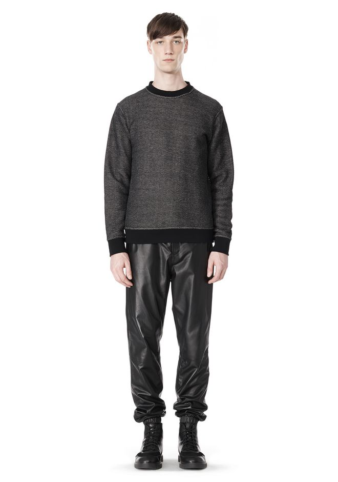 T by ALEXANDER WANG COTTON TWILL KNIT FRENCH TERRY SWEATSHIRT TOP Adult 12_n_f