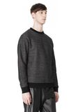 T by ALEXANDER WANG COTTON TWILL KNIT FRENCH TERRY SWEATSHIRT TOP Adult 8_n_a
