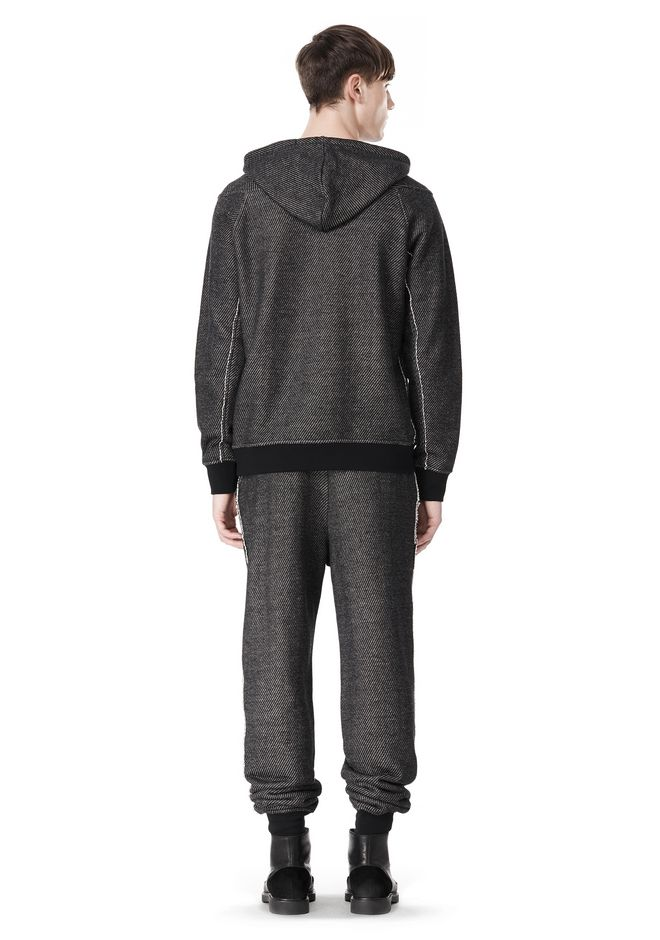 T by ALEXANDER WANG COTTON TWILL KNIT FRENCH TERRY HOODIE TOP Adult 12_n_r