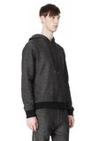T by ALEXANDER WANG COTTON TWILL KNIT FRENCH TERRY HOODIE TOP Adult 8_n_a