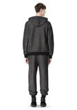 T by ALEXANDER WANG COTTON TWILL KNIT FRENCH TERRY HOODIE TOP Adult 8_n_r