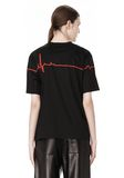 ALEXANDER WANG CREWNECK TEE WITH BONDED HEARTBEAT GRAPHIC Short sleeve t-shirt Adult 8_n_d