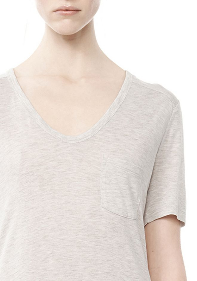 T by ALEXANDER WANG CLASSIC TEE WITH POCKET TOP Adult 12_n_a