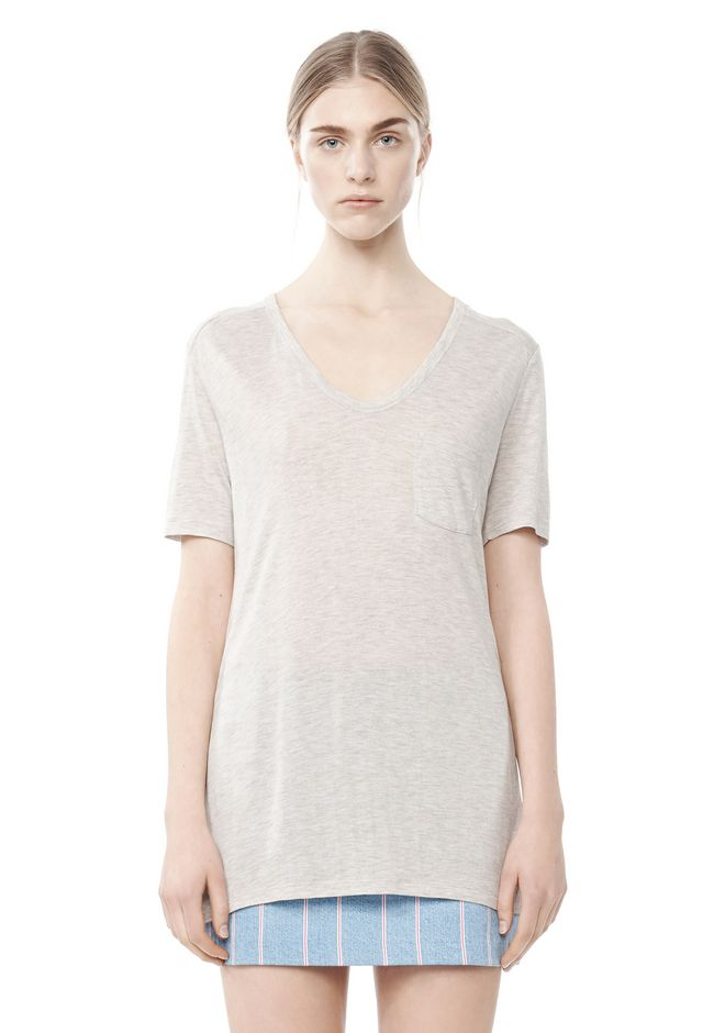 T by ALEXANDER WANG CLASSIC TEE WITH POCKET TOP Adult 12_n_e