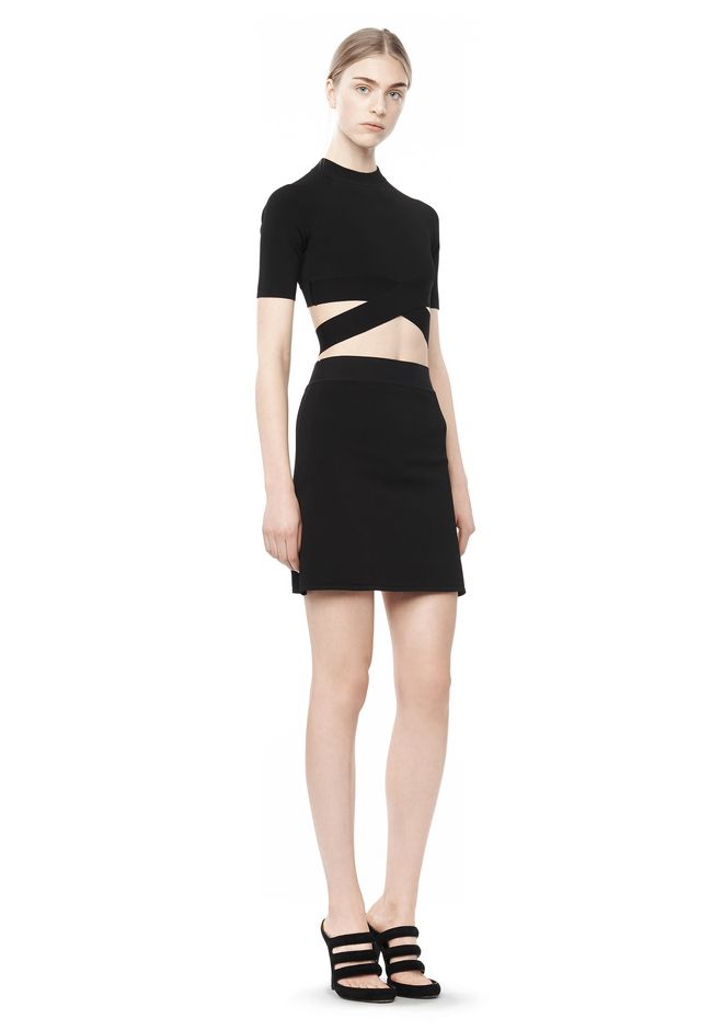 Criss Cross Crop Top by Alexander Wang