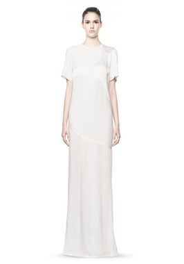 alexander wang long sleeve lasercut and welded dress