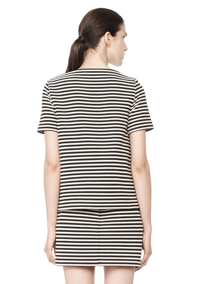 T by ALEXANDER WANG STRIPED BOATNECK TOP TOP Adult 12_n_d