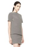 T by ALEXANDER WANG STRIPED BOATNECK TOP TOP Adult 8_n_a