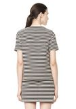 T by ALEXANDER WANG STRIPED BOATNECK TOP TOP Adult 8_n_d